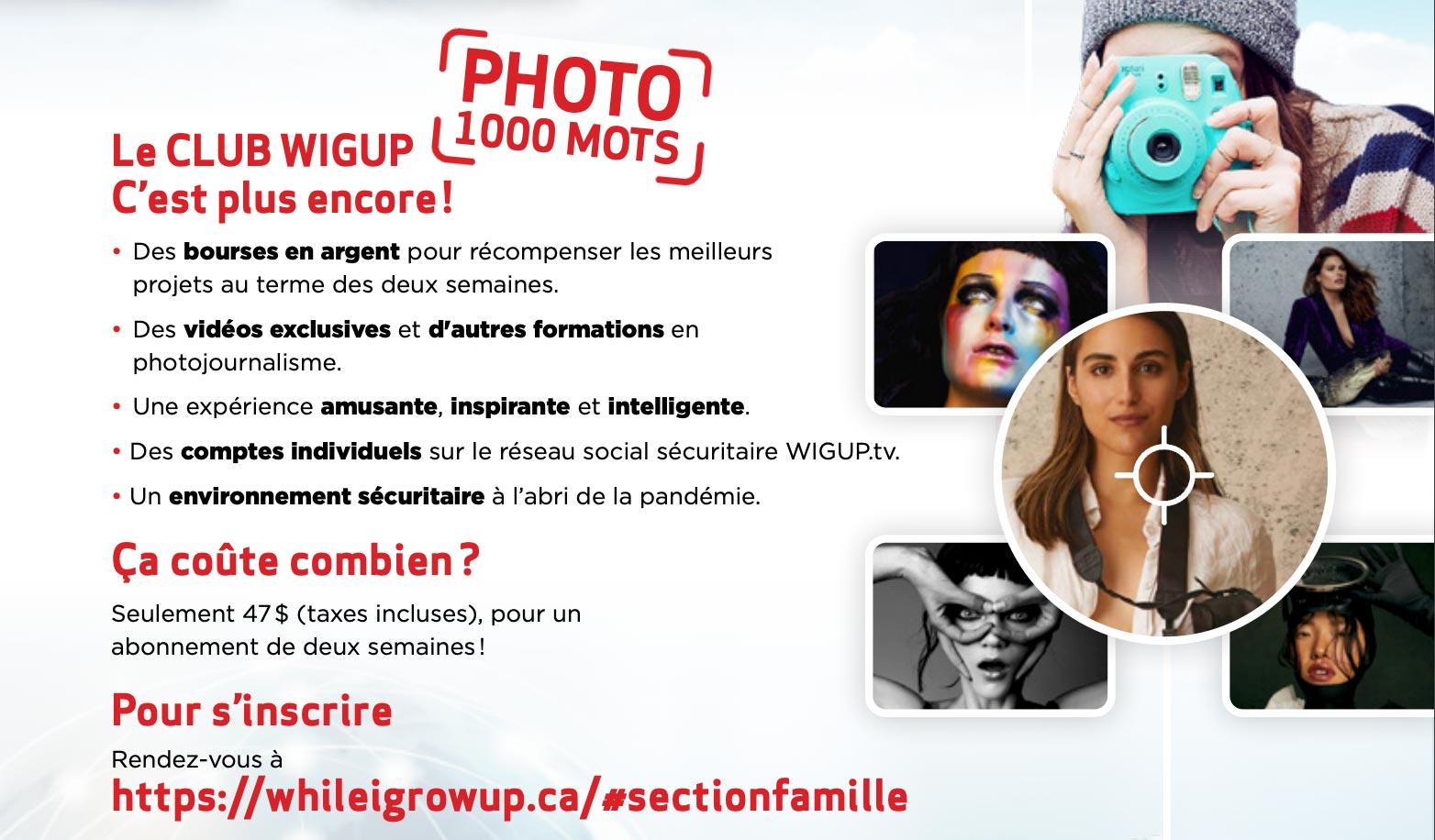 Atelier de photographier avec Dariane Sanche et le club Wigup photo 1000 mots